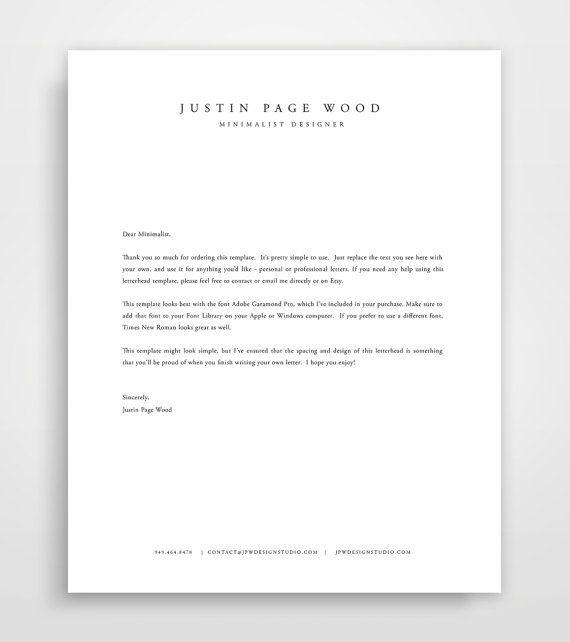 Letterhead Template Business Letterhead Letterhead Design Etsy Letterhead Design Letterhead Template Business Letter Template