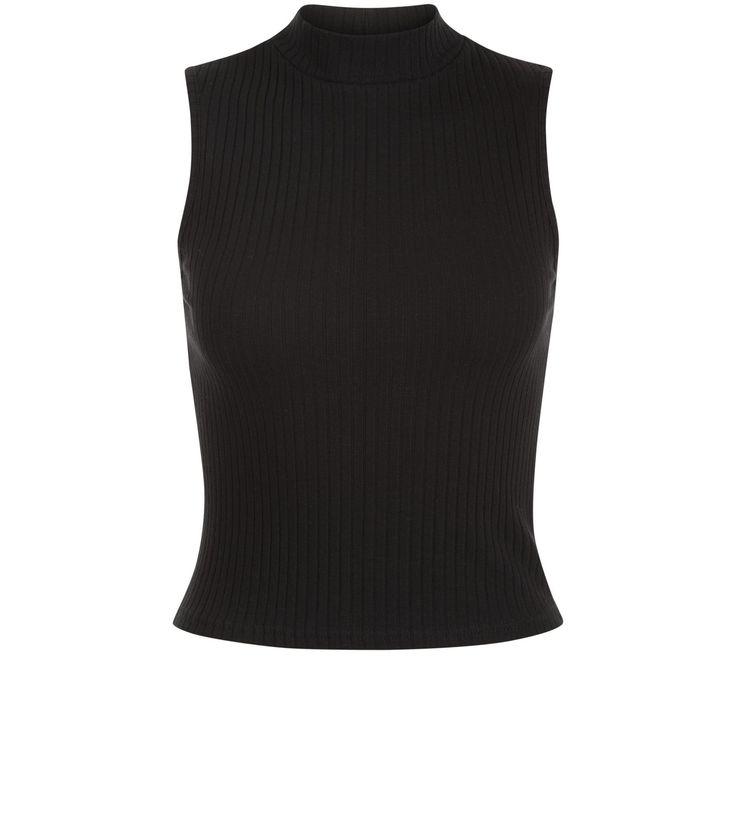 Petite Black Turtle Neck Crop Top | New Look