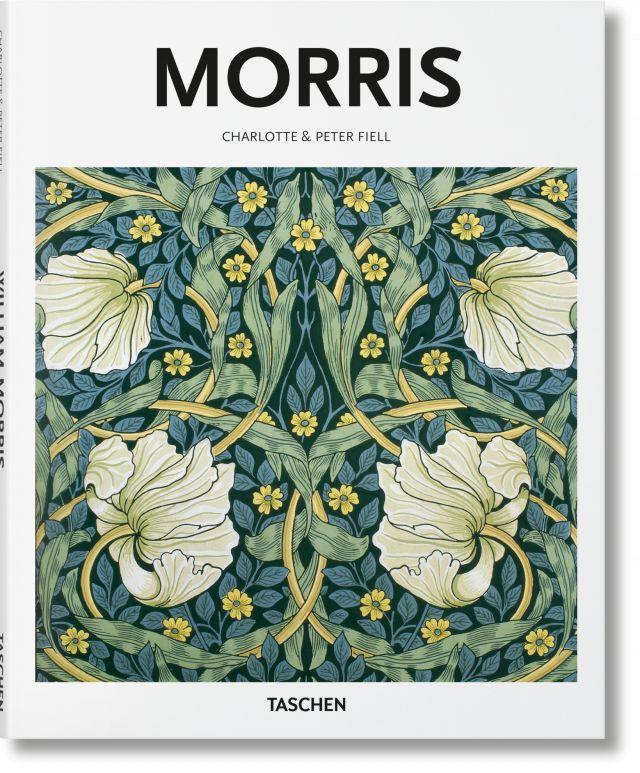 Serie Basic Art de TASCHEN sobre el pionero victoriano William Morris y sus talentos en el diseño, de papel pintado a tejidos..