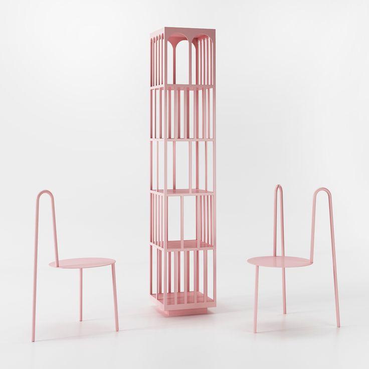 Pastel pink furniture by Crosby Studios
