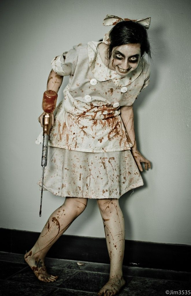 One of the more terrifying Little Sister cosplays (and I mean that - scary homemade halloween costume ideas