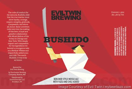 mybeerbuzz.com - Bringing Good Beers & Good People Together...: Evil Twin Adding Bushido & Consumed 15 Today, Dian...