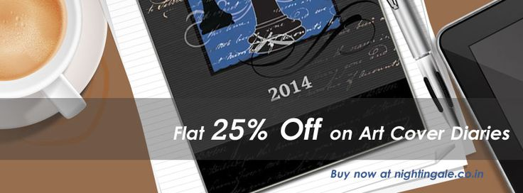 Nightingale Art cover Diaries 2014 at Flat 25% off