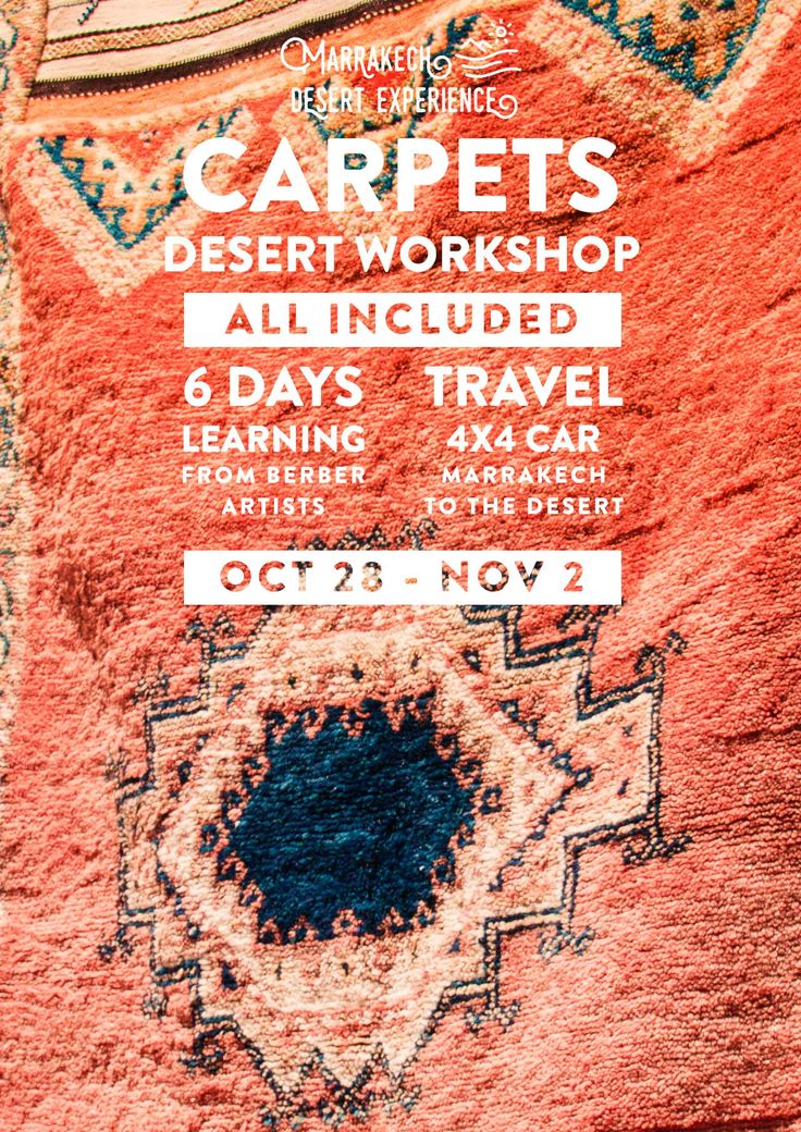 Learn all about berber carpets with us! We will travel from Marrakech to the…