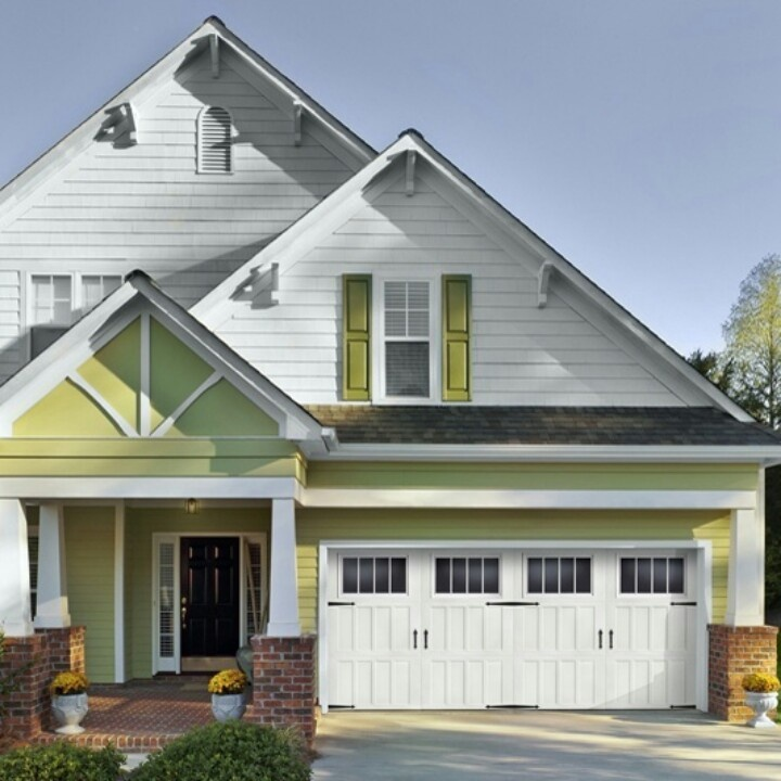 21 Best Images About White Garage Doors On Pinterest