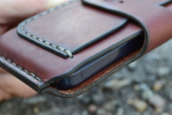 Case for iPhone 5 - Handmade Leather iPhone 5 Pouch / - Pouch  -
