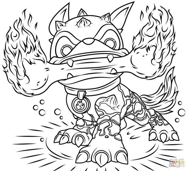 21 Brilliant Image Of Skylanders Coloring Pages Dog Coloring