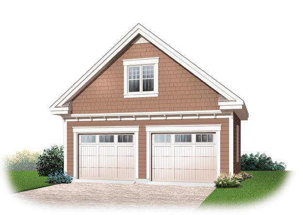 This Extra Deep Two Stall Garage Has A Service Door In The