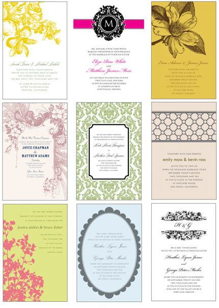 These pretties are all FREEBIES — printable invitation templates you can personalize. New templates are added each weekday.  @Emily Swader