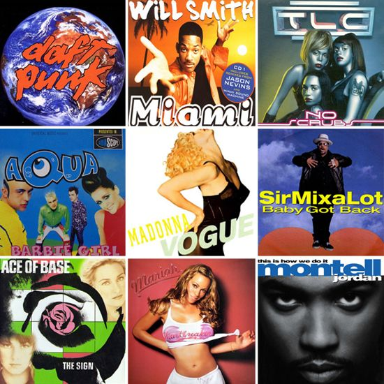 wedding playlist? hells yes!  100 Essential Songs For Your '90s Dance Party