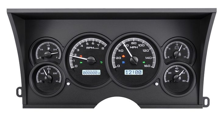 Dakota Digital 88 89 90 91 92 93 94 Chevy / GMC Pickup Truck Analog Dash Gauges VHX-88C-PU