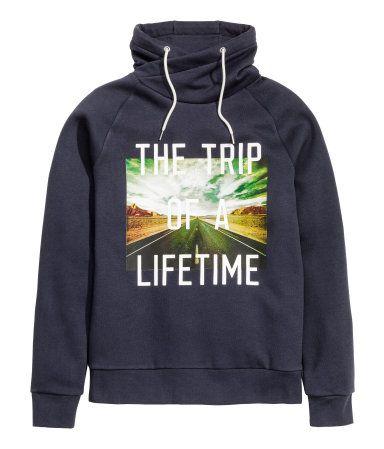 Chimney Collar Sweatshirt Product Detail | H&M US