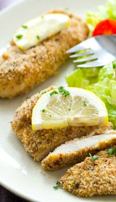 Crispy Lemon-Garlic Breaded Chicken Tenders