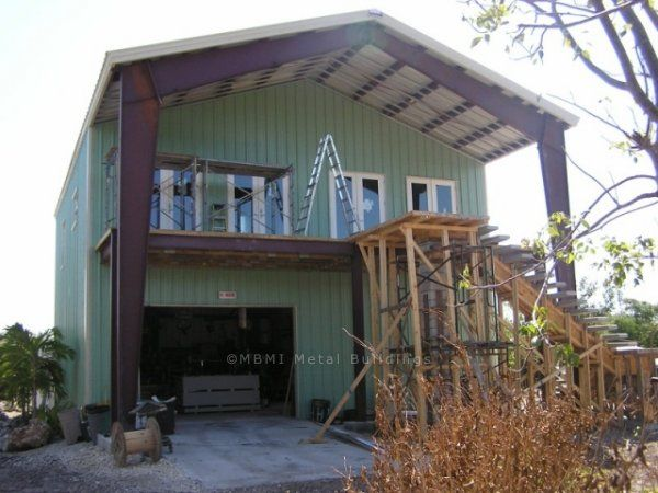 496 best homes metal homes barndominiums images on for 2 story metal building