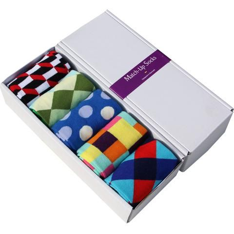 Multicolor, Multipattern Comfortable Dress Socks Pack of Five (5) (21 options) *LIMITED SUPPLY