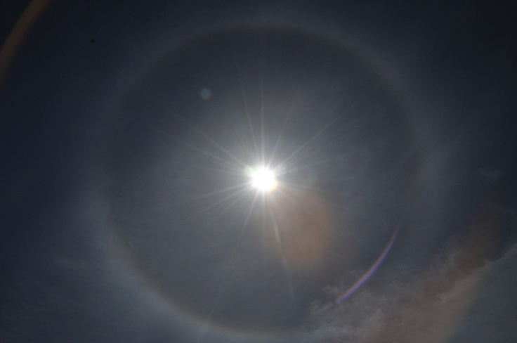 Awesome solar halo seen yesterday while boating near Pender Island.