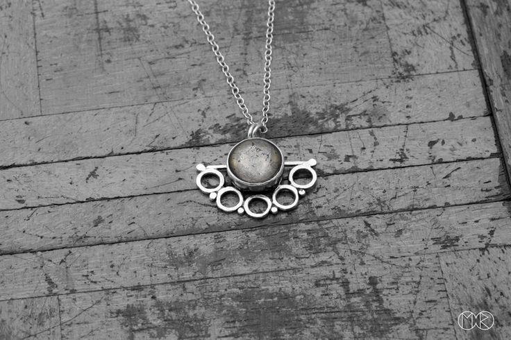PERU Halskette / Anhänger Silber Pyrit von MartaRudnicka auf DaWanda.com