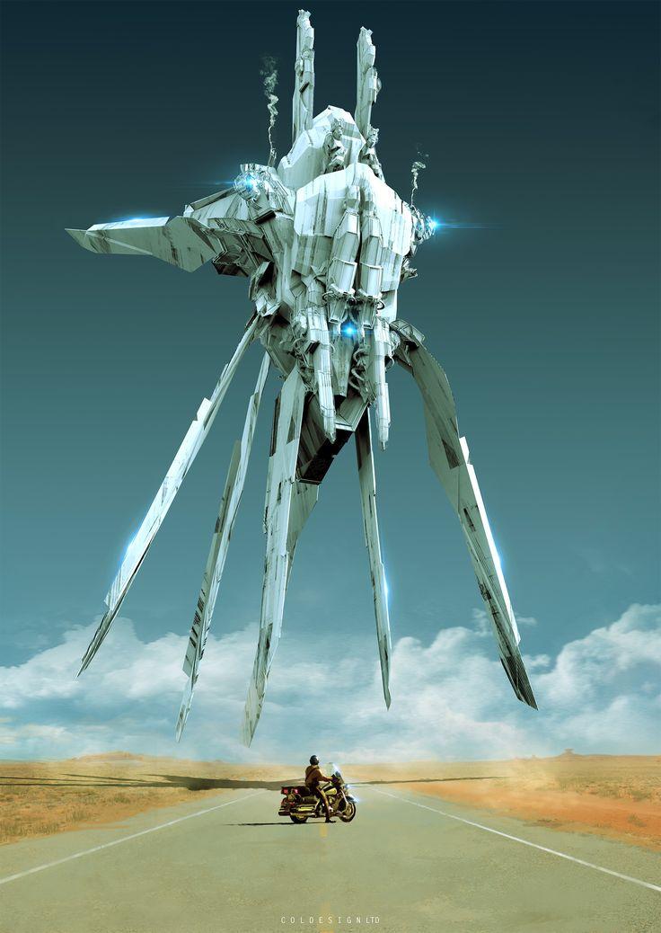 Naves espaciales por precio de la Col.  Un montón de trabajo fantástico por el precio de la col en ArtStation. Los robots el concepto de Col.