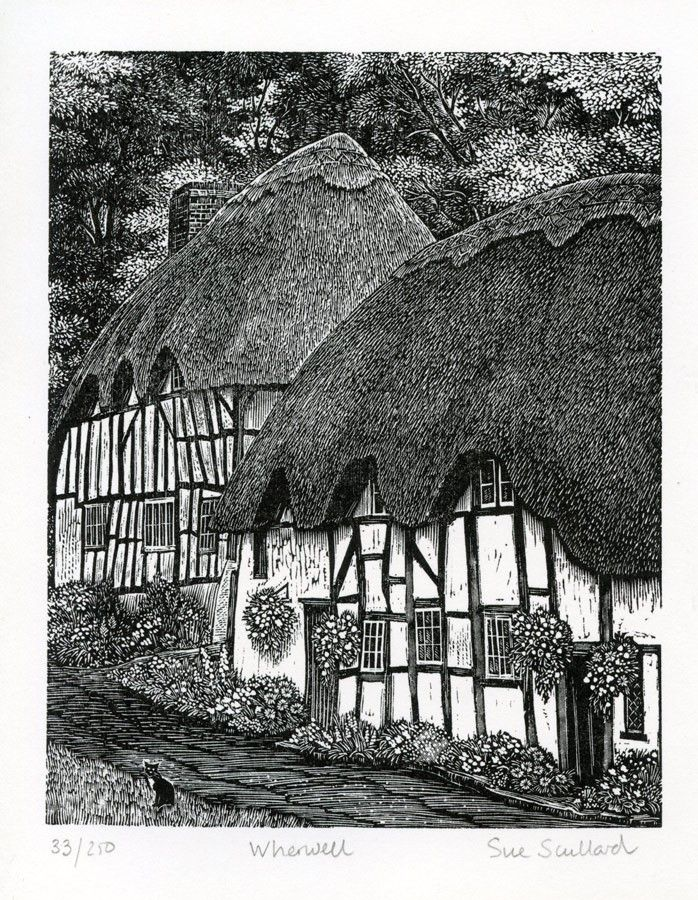 Sue Scullard (1956- ) SWE - Wood Engraving Wherewell 33/250