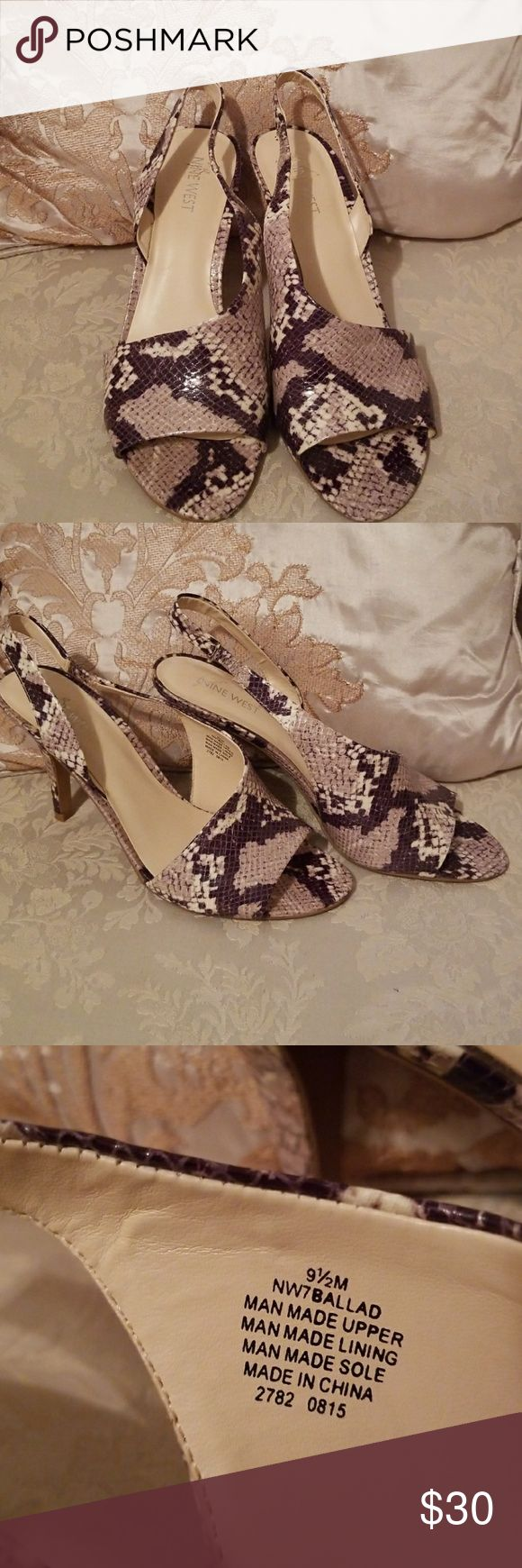Nine West snake pattern heels These are beautiful Nine West heels! They are in Great condition!!! Nine West Shoes Heels