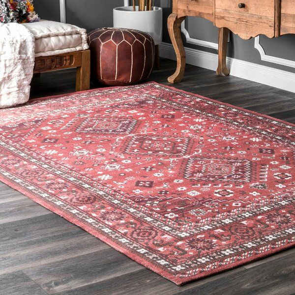 Venice Oriental Cotton Red Area Rug Machine Made Rugs Red Oriental Rug Area Rugs