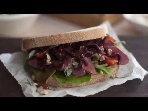 Smoked Kangaroo and Native Greens Sandwich - Goodman Fielder Food Service Recipes - YouTube