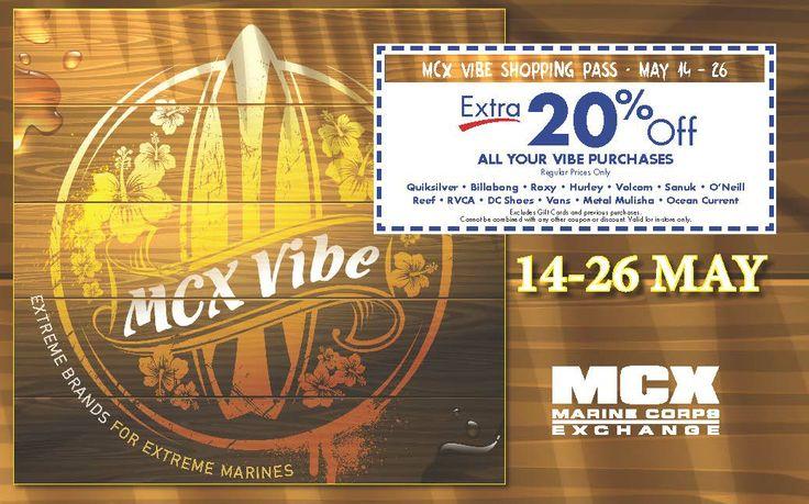 Vibe Shopping Pass 14-26 May, Quantico MCX