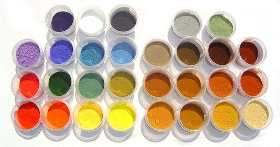 Les colorants naturels : terres et oxydes multi-usages