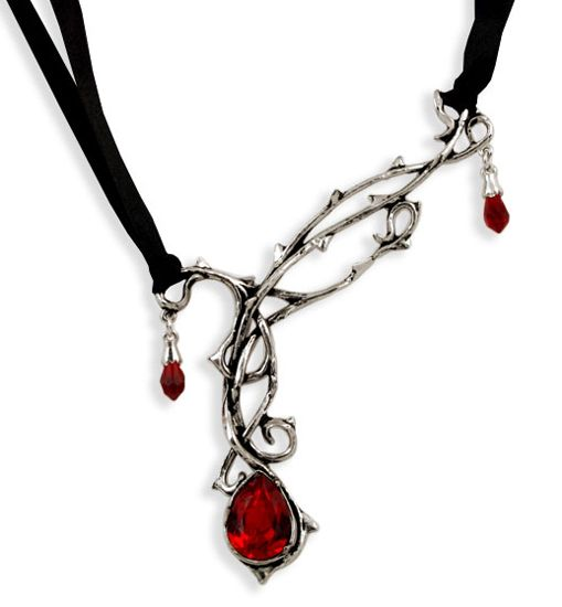Passion Rose Thorn Pewter Necklace AG-P530 by Alchemy Gothic Gothic, Vampire & Steampunk | Gothic Jewelry | Demonia