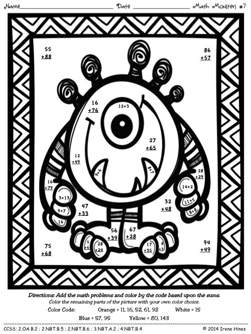 1000+ images about Coloring Pages - Color By Code on Pinterest ...