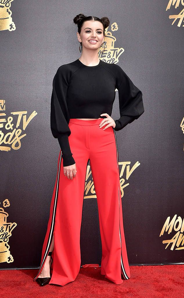 Rebecca Black from MTV Movie & TV Awards 2017: Red Carpet Arrivals  This singer-songwriter is ready to get down on Friday Sunday!