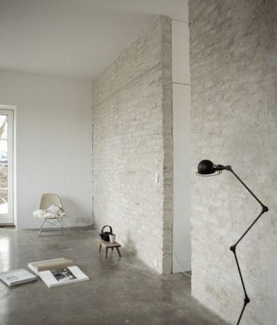 ambiance-cocon: (via La maison d'Anna G.) mortar washed / sacked / sacking . brickwork or cmu block