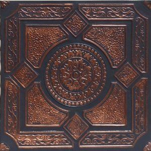 "Lima Accent Copper Black (20x20"" Pvc) $13.95"