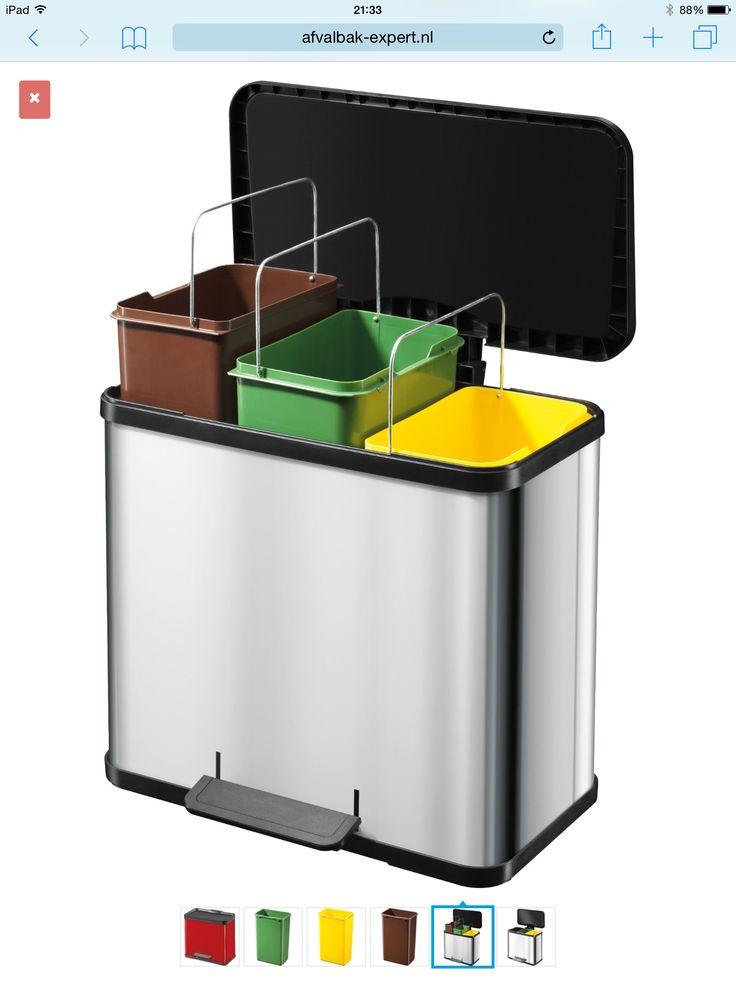 Haiko 3-delige afvalbak voor keuken