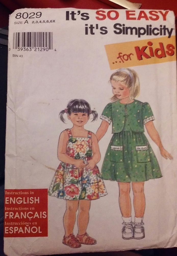 New but opened sewing pattern sewing pattern for girls. Sizes 2-6x. Uncut. Check out my other auctions for more great deals. I combine shipping. A portion of the sales go to March of Dimes.   eBay!