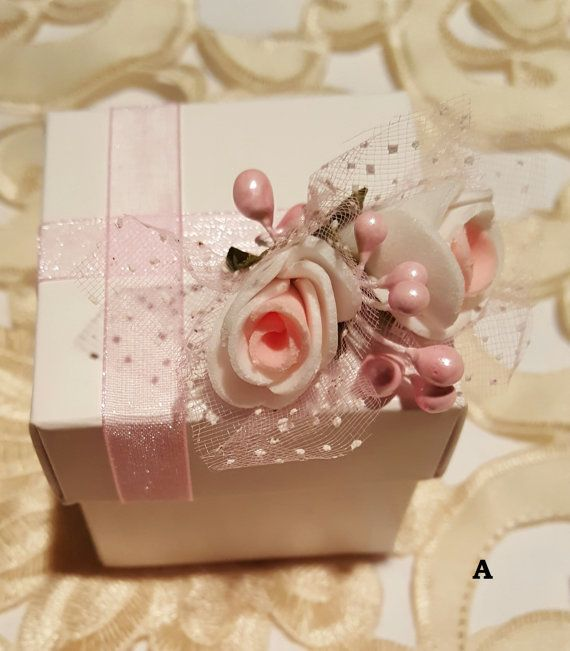 *Set of 10 Wedding Favor Candy Box, Event Sweet Candy Box, Birthday Gift Box,Bridal Shower Box (to fill with candy). *Made of high quality card