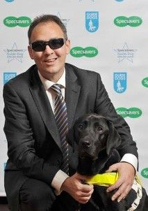 John Tovey with guide dog Dez guidedogs.org.uk