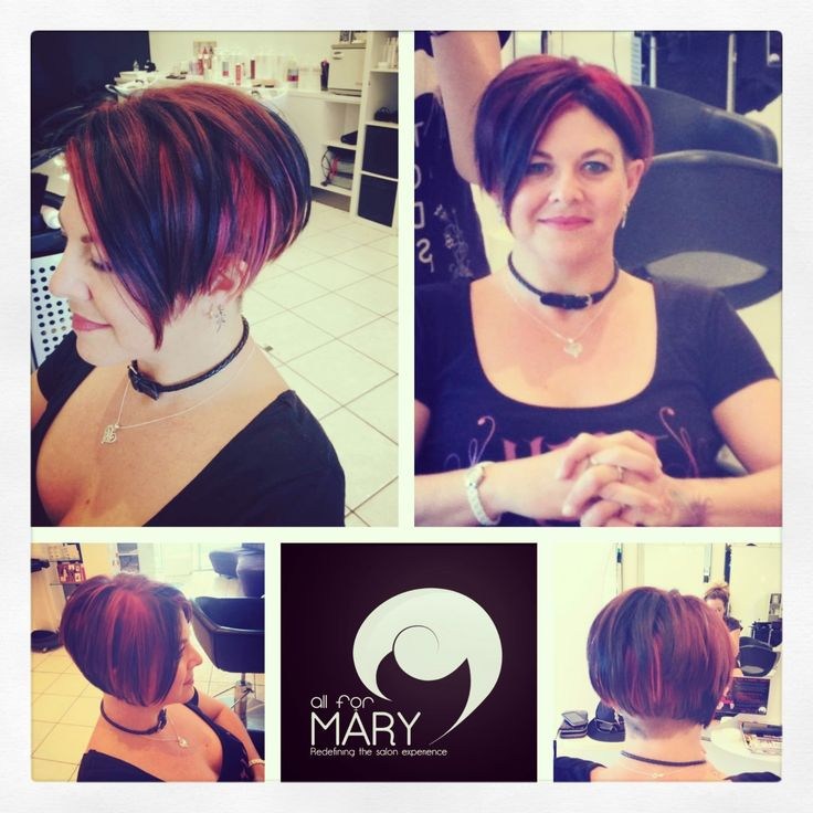 Toni's creation is so spot on for her personality! An #undercut with #tracks, #funky #colours and sharp #haircut. LOVE IT! #hair #salon #style #haircolour All For Mary - Redefining the salon experience www.allformary.com