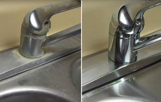 Como remover as manchas de água e sujeira da torneira e da pia de forma fácil e eficaz!