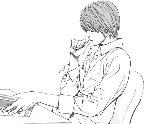 Dibujos Para Colorear De Death Note: Light Yagami On Tumblr - Buscar Con Google