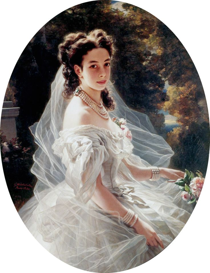 Portrait of Princess Pauline von Metternich, by Franz Xaver Winterhalter . Granddaughter and daughter-in-law of the famous statesman  Prin...