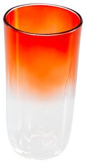 23oz Highball Orange Ombre - contemporary - cups and glassware - by Q SQUARED