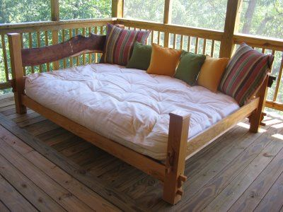 Queen Size Daybeds! I normally only see day beds with twin bed but I kinda like the idea for a queen bed