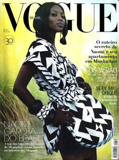 Naomi Campbell para el Vogue Brasil