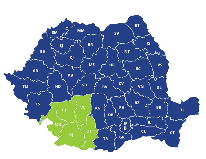 Productivitatea muncii - top producatori regiunea Sud-Vest