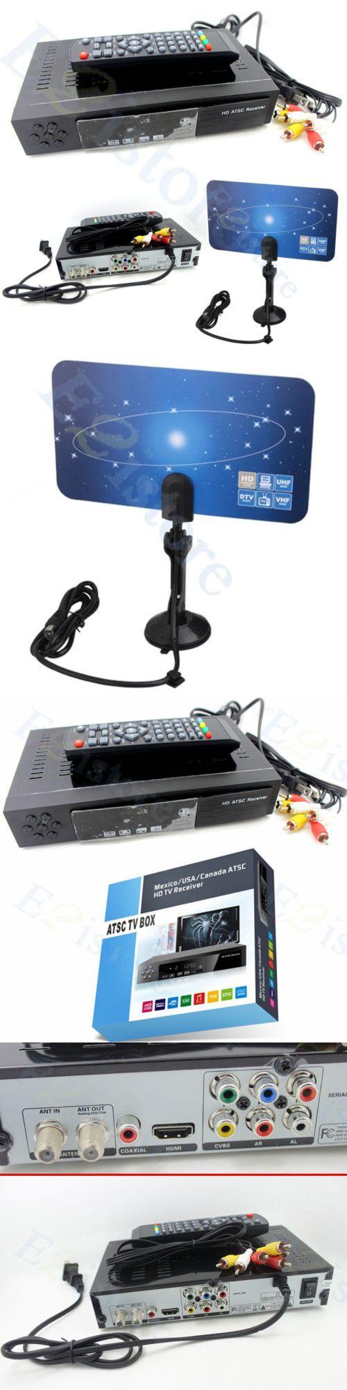 Antennas and Dishes: Full Hdmi Vhf Uhf Antenna + Atsc Tv Box Digital Analog Convertor Receiver Signal -> BUY IT NOW ONLY: $32.29 on eBay!