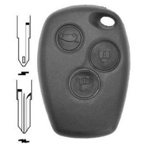 Coque de clé plip Renault Clio Megane Laguna Scenic Twingo Modus 3 boutons: Coque générique pour Renault Clio Megane Laguna Scenic Twingo…