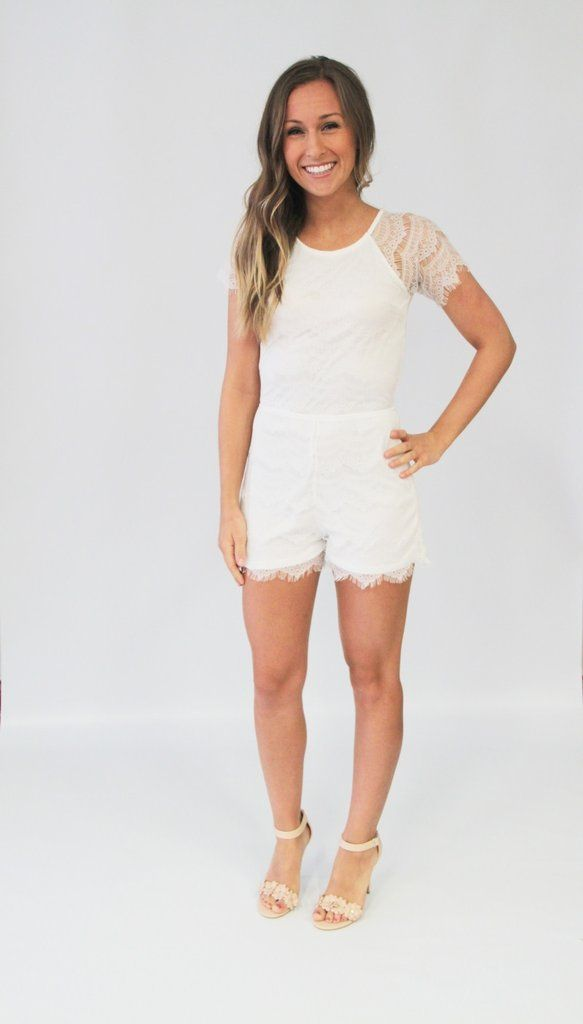 Bride to be? Graduate? This white romper is beautiful! We love how elegant it looks with heels!