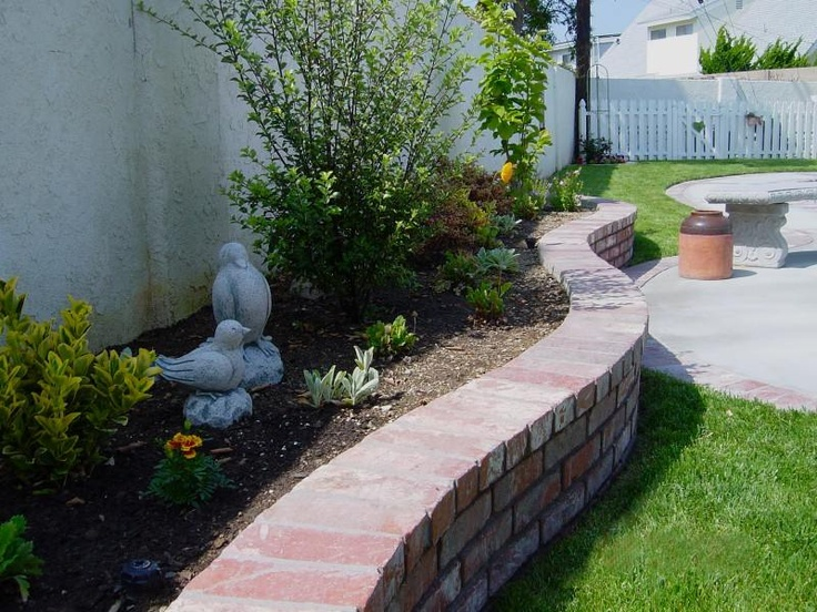 Brick Planters Gardening And Landscaping Pinterest