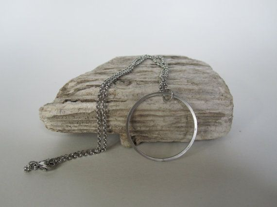 Circle Necklace by Eighty8Eighty9 on Etsy